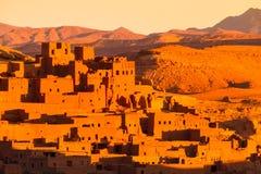 Ait Benhaddou Ouarzazate, Marocko Arkivbild