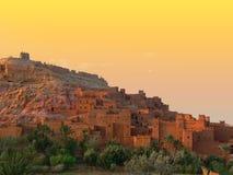 AIT benhaddou Sonnenuntergang Lizenzfreie Stockfotografie