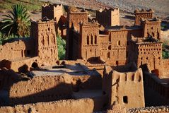Ait Benhaddou, Souss-Massa-Drâa, Maroc Photo stock