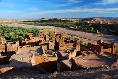 Ait Benhaddou, Souss-Massa-Drâa, Maroc photos stock
