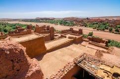 Ait Benhaddou, stärkt stad, kasbah eller ksar i Marocko Arkivbild