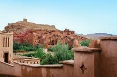 Ait Benhaddou, stärkt stad, kasbah eller ksar i Marocko Arkivfoto