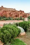 Ait Benhaddou, stärkt stad, kasbah eller ksar i Marocko Fotografering för Bildbyråer