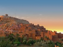 Ait benhaddou sunset Stock Photography