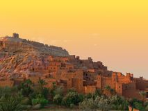 Ait Benhaddou Sunset Royalty Free Stock Photography