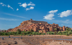 Ait Benhaddou, traditionelles Berber kasbah, Marokko Lizenzfreie Stockfotografie