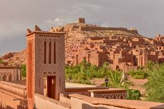 Ait Benhaddou, a UNESCO World Heritage Site in Morocco. Ait Benhaddou is a UNESCO World Heritage Site in Morocco royalty free stock photos