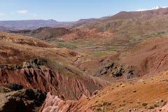 Ait Benhaddou, versterkte stad, kasbah of ksar, langs de vroegere caravanroute tussen de Sahara en Marrakech in huidig royalty-vrije stock fotografie