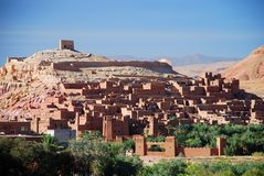 Ait Benhaddou view, Souss-Massa-Drâa, Morocco Royalty Free Stock Images