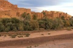 Ait Benhaddou village, Morocco, in evening light Stock Photos