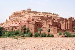 ait benhaddu kasbah摩洛哥 免版税库存照片
