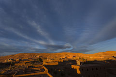 Ait Benhadou the new city view from Ait Benhaddou Royalty Free Stock Photos