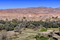 Ksar Ait Boujane in Todra gorges, Morocco Stock Images