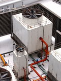 Ait conditioning condenser unit Royalty Free Stock Photography