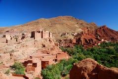Ait Ibriren wioska, Dades wąwozy. Maroko Zdjęcie Stock