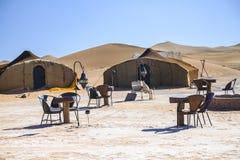 Ait Saoun Maroko, Luty, - 22, 2016: Hotelowy namiot w pustyni Zdjęcia Royalty Free