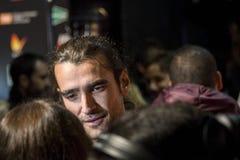 Aitor Luna no evento do cinema da semana da premier do Madri no quadrado de Callao, Madri Imagens de Stock