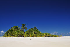 Aitutaki abandonou a ilha Fotos de Stock Royalty Free