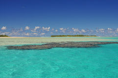 Aitutaki Deserted Island and Reef Stock Images