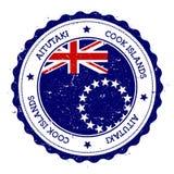 Aitutaki flaga odznaka Zdjęcia Royalty Free