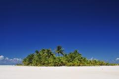 Aitutaki ha abbandonato l'isola Fotografia Stock Libera da Diritti