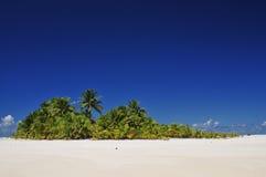 Aitutaki ha abbandonato l'isola Fotografie Stock Libere da Diritti