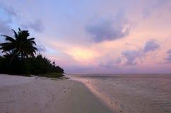Aitutaki Lagoon Cook Islands. Landscape of Aitutaki Lagoon Cook Islands during sunrise royalty free stock photos