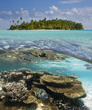Aitutaki lagun - kocken Islands - South Pacific Arkivbild