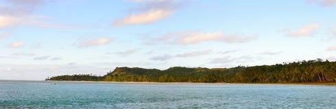 Aitutaki no por do sol Fotos de Stock Royalty Free