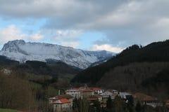 Aitzkorrigane Mendia, Orozko ( Basque Country ). Ibarra with the Mount Aitzkorrigane in the background, Orozko, Bizkaia (Basque Country Stock Image