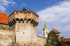 Aiud fortress walls in Transylvania Romania Royalty Free Stock Photos