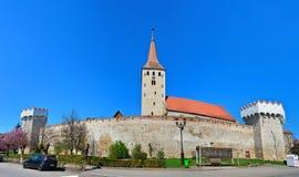 Aiud medeltida fästning Royaltyfria Bilder