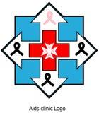 Aiuta il logo della clinica fotografia stock