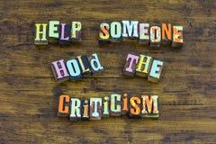 Aiuti qualcuno a tenere la gentilezza di servizio di problema della critica è piacevole fotografie stock