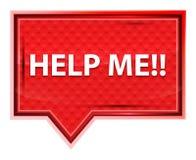 Aiutimi!! bottone rosa rosa nebbioso dell'insegna illustrazione vettoriale