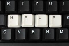 Aiuto dal computer Immagini Stock Libere da Diritti