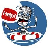 Aiuto degli scheletri Fotografia Stock