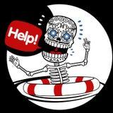 Aiuto degli scheletri Immagini Stock