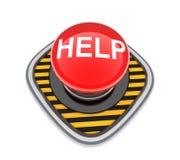 Aiuto del pulsante Immagine Stock