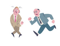 Aiuto dell'uomo di affari il suo collega da difficoltà Immagine Stock
