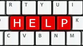 Aiuto della tastiera di computer Fotografie Stock