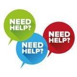 Aiuto di bisogno? Vettore piano di progettazione Fotografia Stock
