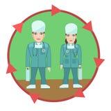 Aiuto di medici di professione Immagine Stock
