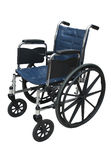 Aiuto isolato sedia a rotelle di sanità Fotografie Stock Libere da Diritti