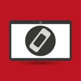 Aiuto medico del gesso di servizio di Notebook PC Immagini Stock Libere da Diritti