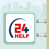Aiuto medico disponibile venti quattro Concezione dell'insegna Fotografia Stock