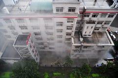 Aiuto nell'emergenza del fuoco Fotografia Stock