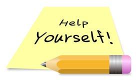 Aiuto voi stessi illustrazione vettoriale