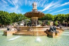 aix en fontanna Provence Obraz Stock