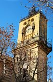 Aix-en-provence #39. The clocktower of Hotel de Ville in Aix-en-Provence, France Royalty Free Stock Photography